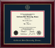California State University Fresno Diploma Frame - Gold Embossed Diploma Frame in Gallery