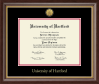 University of Hartford Diploma Frame - Gold Engraved Medallion Diploma Frame in Hampshire