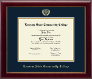 Lawson State Community College Diploma Frame - Gold Embossed Diploma Frame in Gallery