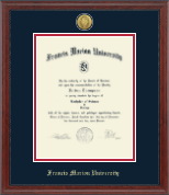 Francis Marion University Diploma Frame - Gold Engraved Medallion Diploma Frame in Signature
