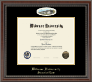 Widener University School of Law Diploma Frame - Campus Cameo Diploma Frame in Chateau