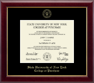 Purchase College State University of New York  Diploma Frame - Gold Embossed Diploma Frame in Gallery