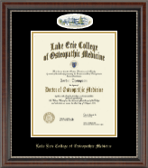 Lake Erie College of Osteopathic Medicine Diploma Frame - Erie Campus Cameo Diploma Frame in Chateau
