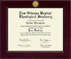 New Orleans Baptist Theological Seminary Diploma Frame - Century Gold Engraved Diploma Frame in Cordova