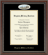 Virginia Military Institute Diploma Frame - Campus Cameo Diploma Frame in Chateau
