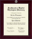 Southeastern Baptist Theological Seminary Diploma Frame - Century Silver Engraved Diploma Frame in Cordova