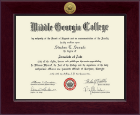Middle Georgia College Diploma Frame - Century Gold Engraved Diploma Frame in Cordova