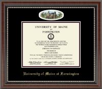 University of Maine Farmington Diploma Frame - Campus Cameo Diploma Frame in Chateau