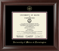University of Maine Farmington Diploma Frame - Gold Embossed Diploma Frame in Rainier