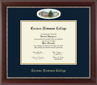 Carson-Newman College Diploma Frame - Campus Cameo Diploma Frame in Chateau