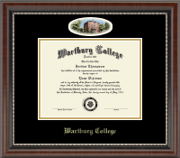 Wartburg College Diploma Frame - Campus Cameo Diploma Frame in Chateau