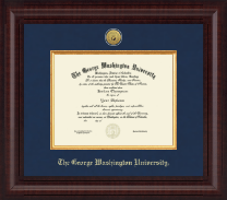 The George Washington University Diploma Frame - Presidential Gold Engraved Diploma Frame in Premier