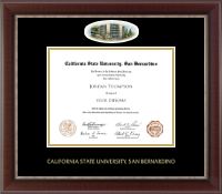 California State University San Bernardino Diploma Frame - Campus Cameo Diploma Frame in Chateau