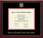 Greater Atlanta Christian School Diploma Frame - Gold Embossed Diploma Frame in Galleria