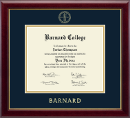 Barnard College Diploma Frame - Gold Embossed Diploma Frame in Gallery