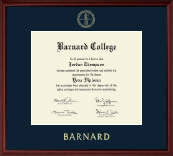 Barnard College Diploma Frame - Gold Embossed Diploma Frame in Camby