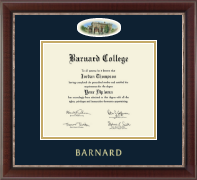 Barnard College Diploma Frame - Campus Cameo Diploma Frame in Chateau