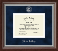 Brigham Young University Idaho Diploma Frame - Silver Embossed Diploma Frame in Devonshire