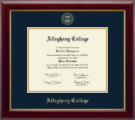 Allegheny College Diploma Frame - Gold Embossed Diploma Frame in Gallery