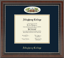 Allegheny College Diploma Frame - Campus Cameo Diploma Frame in Chateau