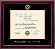 Princeton University Diploma Frame - Gold Engraved Medallion Diploma Frame in Gallery