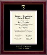 School of Professional Audio and Sound Diploma Frame - Gold Embossed Diploma Frame in Gallery
