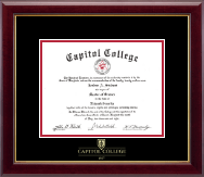 Capitol College Diploma Frame - Embossed Diploma Frame in Gallery