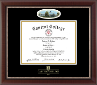 Capitol College Diploma Frame - Campus Cameo Diploma Frame in Chateau