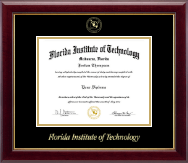 Florida Institute of Technology Diploma Frame - Gold Embossed Diploma Frame in Gallery
