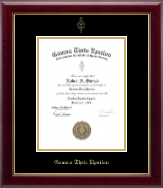 Gamma Theta Upsilon Certificate Frame - Gold Embossed Certificate Frame in Gallery