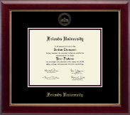Friends University Diploma Frame - Gold Embossed Diploma Frame in Gallery