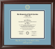 University of North Carolina Chapel Hill Diploma Frame - Gold Embossed Diploma Frame in Rainier
