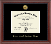 University of Southern Maine Diploma Frame - Gold Engraved Diploma Frame in Signature