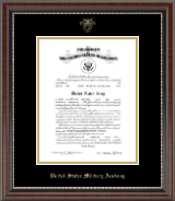 United States Military Academy Certificate Frame - Gold Embossed Commission Certificate Frame in Chateau
