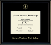 Eastern Oklahoma State College Diploma Frame - Gold Embossed Diploma Frame in Onexa Gold