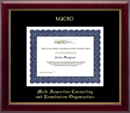 Mold Inspection Consulting and Remediation Organization Certificate Frame - Gold Embossed Certificate Frame in Gallery