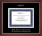 Mold Inspection Consulting and Remediation Organization Certificate Frame - Silver Embossed Certificate Frame in Kensington Silver