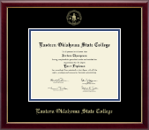 Eastern Oklahoma State College Diploma Frame - Gold Embossed Diploma Frame in Galleria