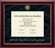 California State University Long Beach Diploma Frame - Gold Engraved Medallion Diploma Frame in Gallery