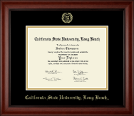 California State University Long Beach Diploma Frame - Gold Embossed Diploma Frame in Cambridge
