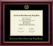 California State University Long Beach Diploma Frame - Gold Embossed Diploma Frame in Gallery