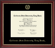 California State University Long Beach Diploma Frame - Gold Embossed Diploma Frame in Kensington Gold