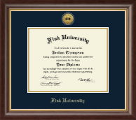 Fisk University Diploma Frame - Gold Engraved Medallion Diploma Frame in Hampshire