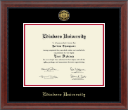 Edinboro University Diploma Frame - Gold Engraved Medallion Diploma Frame in Signature