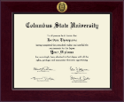 Columbus State University Diploma Frame - Century Gold Engraved Diploma Frame in Cordova