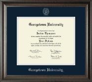 Georgetown University Diploma Frame - Silver Embossed Diploma Frame in Acadia