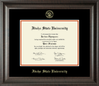 Idaho State University Diploma Frame - Gold Embossed Diploma Frame in Acadia
