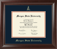 Morgan State University Diploma Frame - Gold Embossed Diploma Frame in Rainier