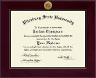 Pittsburg State University Diploma Frame - Century Gold Engraved Diploma Frame in Cordova