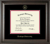 Tuskegee University Diploma Frame - Gold Embossed Diploma Frame in Acadia
